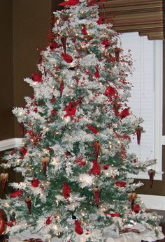 all i want for christmas is a cardinal christmas tree - Red Cardinal Christmas Decorations