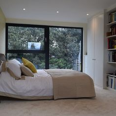 like the window which partially opens Brentford, Loft Room, Aluminium Windows, Victorian Terrace, Ash, Island, Photo And Video, Bedroom, Furniture