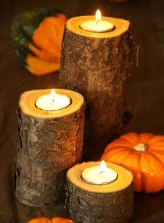 herfst kaarsen