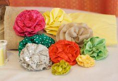DIY Wedding Project: Fabric Flower Tutorial