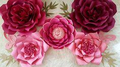 Flower Wall Wedding, Wedding Flowers, Paper Flower Backdrop, Paper Flowers, Princess Theme Birthday, Bridal Shower, Baby Shower, Large Flowers, Birthday Decorations