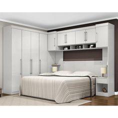 Quarto Modulado Casal 07 Peças N1 Módena Branco Textil - Demóbile - Ambiente Completo Dormitório no Pontofrio.com
