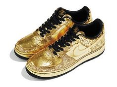 abdc6a86c4d Gold Olympic Sneakers  The Nike Air Force Ones Closing Ceremony Shoes