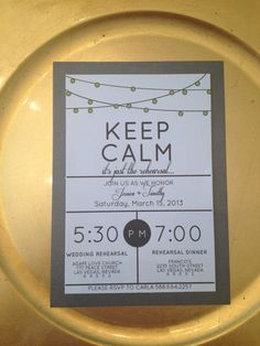 Modern and Fun Rehearsal Dinner Invitations by TotallyChique, $2.00