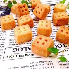 ♡ Saruhoro Cookie with Salad Oil ♡ Salt Vanilla Cube ♡ Easy * Savings ♡ Easy Sweets, Sweets Recipes, Cookie Recipes, Desserts, Cute Food, A Food, Food And Drink, Macaron Recipe, Food Science