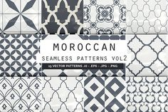Moroccan Seamless Patterns vol2 by Youandigraphics on @creativemarket