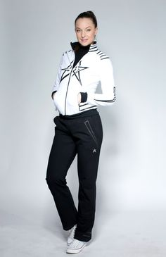 Woman Tracksuit White/Black | REKLYS COLLECTION