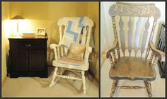Rocking Chair Re-do @Laurie Sheldon-Pijanowski see we can make it look cute and when i saw we i mean you =)