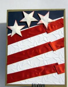 Patriotic flag card