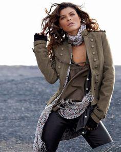 Veste militaire femme hiver