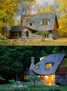The storybook cottage of New York / Casa da Favola a New York Storybook Homes, Storybook Cottage, Style Cottage, Cottage Homes, Irish Cottage Decor, Cottage In The Woods, Earthship, Fairytale Cottage, Cute House