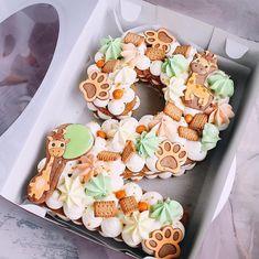 Birthday Cake Number Cupcakes 62 Ideas For 2019 Fondant Cakes, Cupcake Cakes, Cookie Cakes, Cupcake Ideas, Number 2 Cakes, Fruit Cake Cookies Recipe, Giraffe Birthday, Cake Birthday, Fruit Birthday