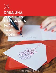 Crea una rosa con caligrafía para Sant Jordi - Three Feelings