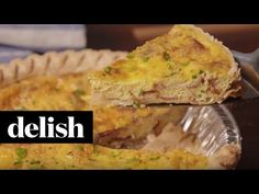 Easy Quiche Recipe with Bacon and Cheese - Best Homemade Breakfast Quiche Delish
