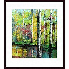 Jie Zhou 'Creekside II' Wood-framed Art Print   Overstock.com Shopping - The Best Deals on Prints