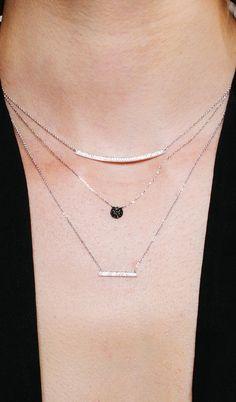 Delicate black and white diamonds! #necklaces #danarebecca
