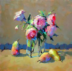 Old Fashioned Roses by Trisha Adams Oil ~ 20 x 20