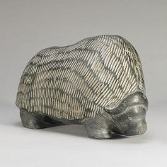Inuit, BARNABUS ARNASUNGAAQ (1924-), MUSK OX, stone Native Art, Native American Art, Bison, Buffalo, Artic Animals, Soapstone Carving, Musk Ox, Inuit Art, Art Auction