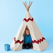 Kids' Imaginary Play: Kids Play Teepee in Playroom Furnishings-Let's make it!
