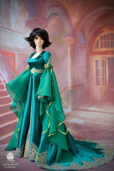 Dear friends! Elven dress for bjd dolls is now available for order. The perfect dress for the Elf. Magic and unique!  The possible sizes -