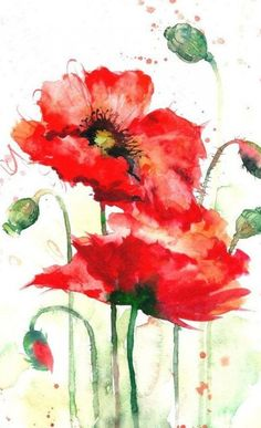 great from each other canvas painting summer, flower painting, painting bedroom, chalked paint, painting rocks ideas. Check out other wonderful examples Watercolor Poppies, Watercolor Sunflower, Abstract Watercolor, Watercolor Illustration, Watercolor Paintings, Poppies Painting, Body Painting, Watercolors, Art Floral