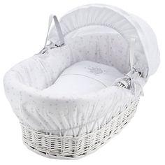 Buy John Lewis Make a Wish Moses Basket, White/Grey Online at johnlewis.com