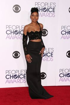 Pin for Later: The Most Glamorous Looks From the People's Choice Awards Keke Palmer Keke's lacy top and sleek skirt made for a playful pair.
