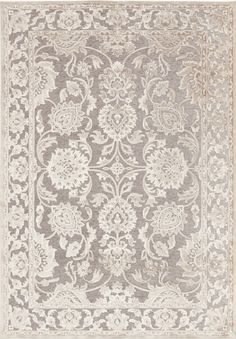 Gray and beige rug with a lustrous sheen from the Basilica Collection at Surya (BSL-7211).