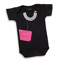 Sara Kety® Pink Bag with Pearls Bodysuit - buybuyBaby.com