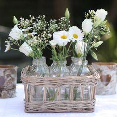 The Wedding of My Dreams - Mini Milk Bottles In Basket #wedding #theweddingofmydreams