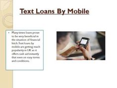 Text Loans by Mobile
