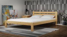 Wooden Oak Pine Wood Bed Frame Foam Mattress with Slats King size Home Design Living Room, Bed Mattress, Bed Frame, Bed, Furniture, Home Decor, Room, Double Beds, Bedroom Furniture