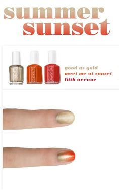 Get this gorgeous look with 'good as gold', 'meet me at sunset', and 'fifth avenue'. Go Go Go!! #essielook