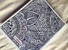Mandala para imitar o inspirarse. Sin color. *Interpretala como quieras* _Envía tu dibujo :)