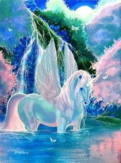 Pegasus+Unicorn= Unisus...........or pegacorn...  THinking about getting this made into a real picture for Isis' wall.