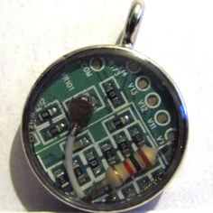 Geekery Modified Computer Circuitry Round Resin by ElementalKarma, $10.00