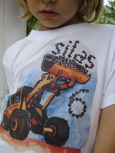 Construction birthday shirt by culpepergeneral on Etsy, $24.00