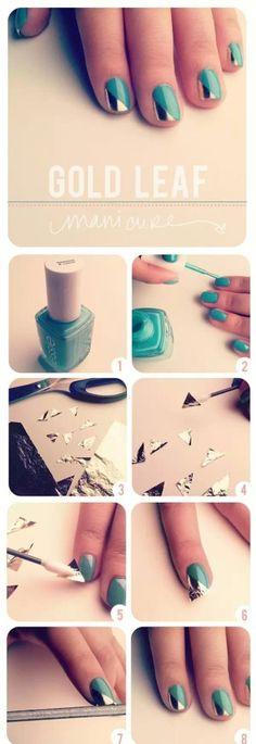 Tuto avec papier aluminium Nail♥Art