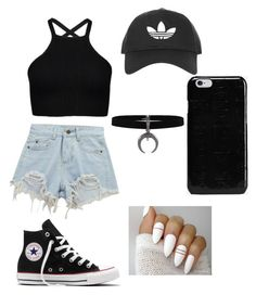 """""""Untitled #15"""" by ersilialupis on Polyvore featuring Chicnova Fashion, Converse, Topshop and Maison Margiela"""