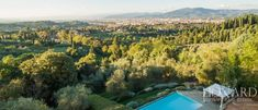 Villa with swimming pool for sale in Florence Image 9 Florence City, Terrace Garden, 15th Century, Luxury Villa, Luxury Real Estate, Tuscany, Swimming Pools, Outdoor, Image