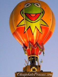 disney hot air balloons | Muppet balloon, hot air balloon, helium balloon, Muppets, Kermet the ...