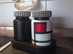 Salzmühle im Stil von Piet Mondrian mit mt masking tape - Newsarchiv (Foto: KK)
