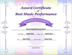 Talent show award certificate download at httpcertificatesinn best music performance certificate template download at httpcertificatesinnbest yadclub Images