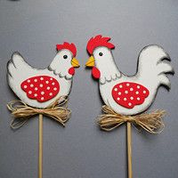 Velikonoce / Svátky | Fler.cz Easter, Christmas Ornaments, Sewing, Holiday Decor, Fun, Hens, Wood, Chicken, Crafts