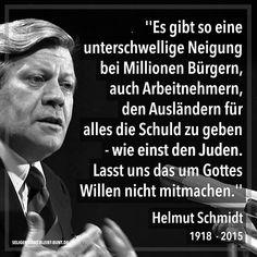 Helmut Schmidt Zitate Zuwanderung