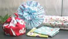 furoshiki love love all the prints and ways to wrap :)