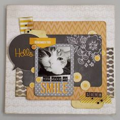 Pet Scrapbook Layout | Scrapbooking Ideas | 12X12 Page | Creative Scrapbooker Magazine #scrapbooking #12X12layout #pets