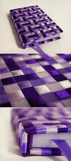 This would be cute as a gift for the girls. Many different designs could be made. Ribbon Art, Ribbon Crafts, Fabric Crafts, Sewing Crafts, Paper Crafts, Book Crafts, Diy And Crafts, Paper Weaving, Weaving Projects