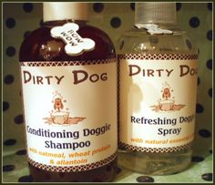 Organic Conditioning Dog Shampoo & Refresher Spray Duo.