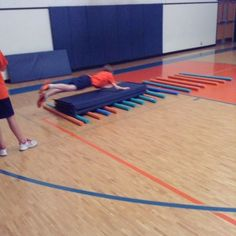 Team challenges today in #physed adventure unit!
